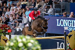 MADDEN Elizabeth (USA), Breitling LS <br /> Göteborg - Gothenburg Horse Show 2019 <br /> Longines FEI World Cup™ Final I<br /> Int. jumping competition - speed and handiness<br /> Longines FEI Jumping World Cup™ Final and FEI Dressage World Cup™ Final<br /> 04. April 2019<br /> © www.sportfotos-lafrentz.de/Stefan Lafrentz