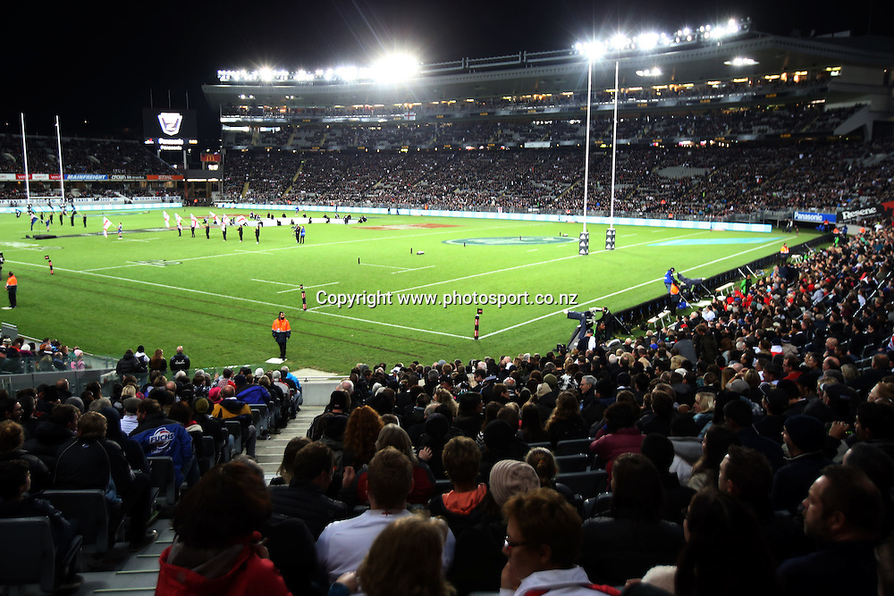 General view of Eden Park before kickoff. New Zealand All Blacks v England rugby international match at Eden Park, Auckland, New Zealand. Steinlager Series. Saturday 7 June 2014.  Photo: Jason Oxenham/Photosport.co.nz