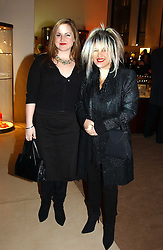 Fashion designer ELIZABETH EMANUEL and her daughter at a party to celebrate the 2nd anniversary of Quintessentially magazine held at Asprey, Bond Street, London on 24th February 2005.<br />