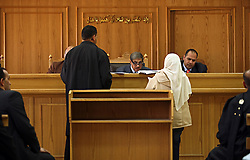 Family Court Appeals Judges Ahmed Abdel Gileel, left, and Abdel Migeed Himeda ,right, hear cases at the Courthouse of New Cairo Personal Status and Family Courts in Cairo, Egypt on March 5, 2008. Recently in the Muslim world, the reputation of Shariah law has undergone an extraordinary revival.