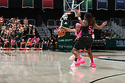 February 11, 2018: Nicole Ekhomu #12 of Florida State in action during the NCAA basketball game between the Miami Hurricanes and the Florida State Seminoles in Coral Gables, Florida. The Seminoles defeated the 'Canes 91-71.