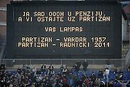 FUDBAL, BEOGRAD, 3. Dec. 2011. - Poslednja utakmica na stadionu Partizana sa starim semaforom popularnim Lampasem.  Utakmica 14. kola Jelen Superlige izmedju Partizana i Radnicki 1923 iz Kragujevca u sezoni 2011/2012. Foto: Nenad Negovanovic