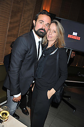 EVGENY LEBEDEV and SABRINA GUINNESS at the Pig Business Fundraiser, Sake No Hana, St.James's, London on 26th September 2012.