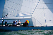 Columbia sailing in the Nantucket 12 Meter Regatta.