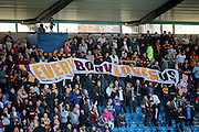 Bradford fans brfore the Sky Bet League 1 play-off second leg match between Millwall and Bradford City at The Den, London, England on 20 May 2016. Photo by Nigel Cole.