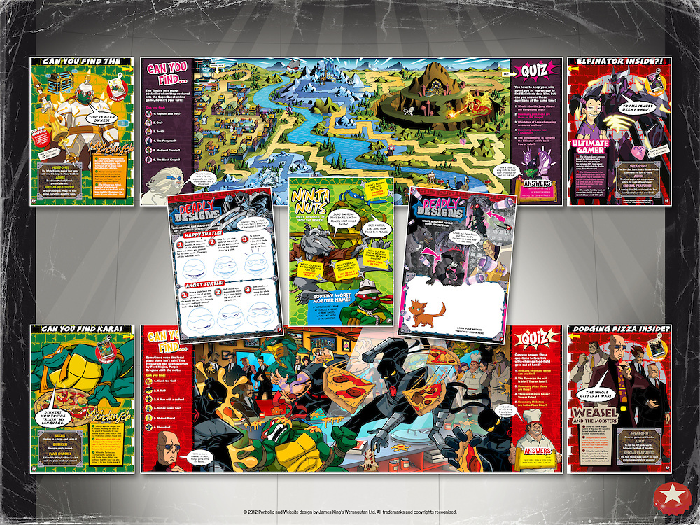 Teenage Mutant Ninja Turtles - Way Of The Ninja Magazine and Trading Cards<br />