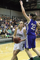 16 February 2013:  Katy Seibring during an NCAA women's division 3 basketball game between the Millikin Big Blue and the Illinois Wesleyan Titans in Shirk Center, Bloomington IL