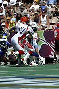 Miami Dolphins running back Ricky Williams in the 2003 Pro Bowl, the NFL All-Star Game at Aloha Stadium on 02/02/2003. The AFC intercepted 6 passes to beat the NFC (45 to 20) for the 3rd straight year. ©Paul Anthony Spinelli