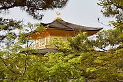 Kinkaku-ji, the Golden Pavilion, is part of the Kyoto World Heritage sites. The site dates back to 1397 although the current structure was rebuilt in 1955 following a fire that destroyed the previous building.