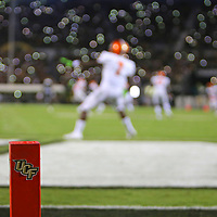 ORLANDO, FL - AUGUST 29: George Webb #7 of the Florida A&M Rattlers receives a kickoff as fans hold up their cell phones during a NCAA football game between the Florida A&M Rattlers and the UCF Knights on August 29 2019 in Orlando, Florida. (Photo by Alex Menendez/Getty Images) *** Local Caption *** George Webb