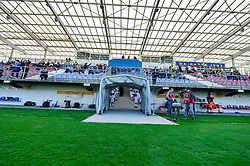 Stadium of Lendava during women football match between National teams of Slovenia and Iceland in 2019 FIFA Women's World Cup qualification, on April 06, 2018 in Sportni park Lendava, Lendava, Slovenia. Photo by Mario Horvat / Sportida