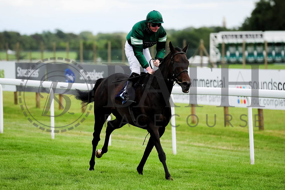 Valentine Mist ridden by John Fahy and trained by James Grassick in the Sky Sports Racing Sky 415 Fillies' Handicap (Class 5) race. - Ryan Hiscott/JMP - 07/08/2019 - PR - Bath Racecourse - Bath, England - Race Meeting at Bath Racecourse