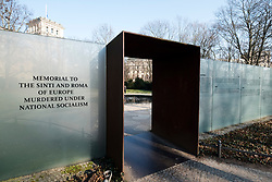 Memorial to the Sinti and Roma of Europe Murdered Under national Socialism in Mitte Berlin, Germany