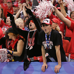2 January 2009: Utah fans cheer during a 31-17 win by the Utah Utes over the Alabama Crimson Tide in the 75th annual Allstate Sugar Bowl at the Louisiana Superdome in New Orleans, LA.
