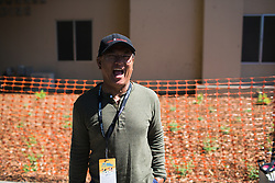 Coryn Rivera's dad enjoys the sunshing before Stage 3 of the Amgen Tour of California - a 70 km road race, starting and finishing in Sacramento on May 19, 2018, in California, United States. (Photo by Balint Hamvas/Velofocus.com)