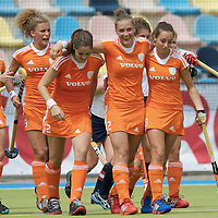 MONCHENGLADBACH - Junior World Cup<br /> Pool A: The Netherlands - USA<br /> photo: Lieke van Wijk scores and celebrates.<br /> COPYRIGHT FRANK UIJLENBROEK FFU PRESS AGENCY