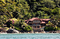 resort hide in the famous and beautiful Praslin island  one of the seychelles island