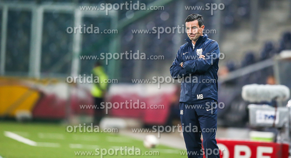 31.07.2014, Red Bull Arena, Salzburg AUT, UEFA EL Qualifikation, FC Groedig vs FC Zimbru Chisinau, dritte Runde, Hinspiel, im Bild Michael Baur, (SV Scholz Groedig, Trainer) // during UEFA Europe League Qualifier first leg 3rd round between FC Groedig and FC Zimbru Chisinau at the Red Bull Arena in Salzburg, Austria on 2014/07/31. EXPA Pictures © 2014, PhotoCredit: EXPA/ Roland Hackl