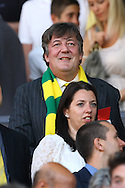 Picture by Paul Chesterton/Focus Images Ltd.  07904 640267.1/10/11.Stephen Fry before the Barclays Premier League match at Old Trafford Stadium, Manchester.