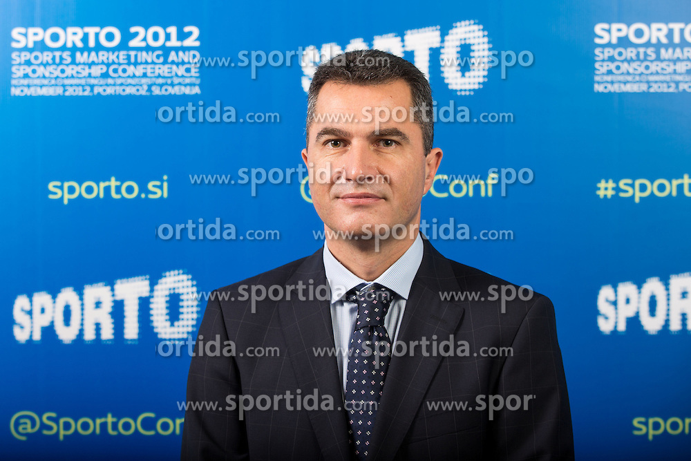 Srdjan Lisac of Procter & Gamble Central Europe during sports marketing and sponsorship conference Sporto 2012, on November 26, 2012 in Hotel Slovenija, Congress centre, Portoroz / Portorose, Slovenia. (Photo By Vid Ponikvar / Sportida.com)