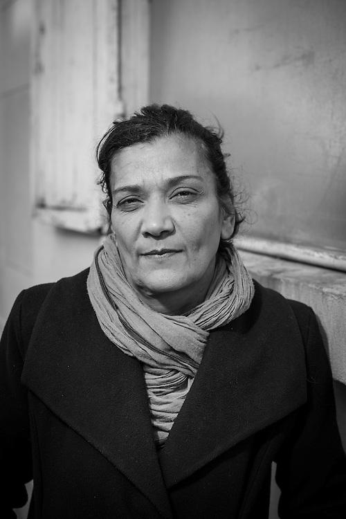 November 3, 2016, Paris, France. Nadia Remadna, born in Cr&eacute;teil on November 15, 1959, president of &lsquo;Brigade des m&egrave;res&rsquo; (Mothers' Brigade). Author, mother of four children, mediator, militant against radicalization, she denounces the abandonment of republican principles in the suburbs.<br /> <br /> 3 novembre 2016, Paris, France. Nadia Remadna, n&eacute;e &agrave; Cr&eacute;teil le 15 novembre 1959, pr&eacute;sidente de la Brigade des m&egrave;res, fond&eacute;e &agrave; Sevran en Seine Saint-Denis. Auteure du livre Comment j'ai sauv&eacute; mes enfants, m&egrave;re de quatre enfants, m&eacute;diatrice, militante contre la radicalisation. elle d&eacute;nonce l'abandon des principes r&eacute;publicains dans les banlieues.