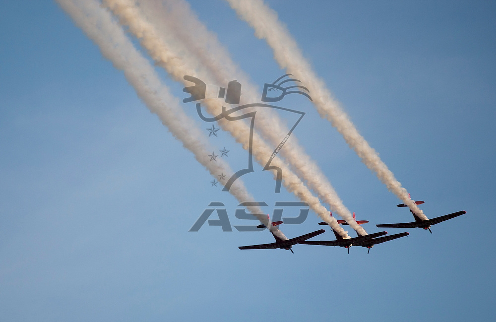 CONCORD, NC - MAY 21, 2011:  The flyover before the Showdown at the Charlotte Motor Speedway in Concord, NC.
