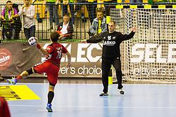 Ivan Gajic of RK Celje Pivovarna Lasko during the handball match between RK Celje Pivovarna Lasko (SLO) and Prvo Plinarsko drustvo Zagreb (CRO) in 1st round, group B of EHF Champions League 2016/17 on September 24, 2016 in Arena Zlatorog, Celje, Slovenia. Photo by Ziga Zupan / Sportida