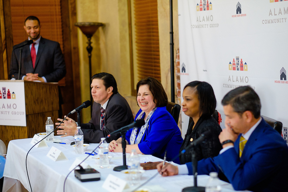 San Antonio Mayoral debate held Wednesday, March 4, 2015 at the Meadows at Bentley Apartments. (Photo©Bahram Mark Sobhani)
