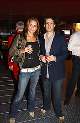 Actress CHLOE BAILEY and JAMES BONNEY at a party to celebrate the launch of Pilsner Urquell beer held in the Pavillion at The Serpentine Gallery, London on 4th October 2006.<br /><br />NON EXCLUSIVE - WORLD RIGHTS