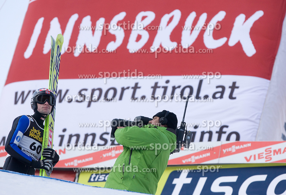 Anders Jacobsen of Norway after he competed during Final round of the FIS Ski Jumping World Cup event of the 58th Four Hills ski jumping tournament, on January 3, 2010 in Bergisel, Innsbruck, Austria.(Photo by Vid Ponikvar / Sportida)