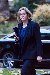 London, November 22 2017. Home Secretary Amber Rudd attends the UK cabinet meeting at Downing Street. © Paul Davey