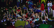 03.08.2014. Glasgow, Scotland. Glasgow Commonwealth Games. Closing Ceremony from Hampden Park. Performs dance along to Kylie Minogue singing Time Warp