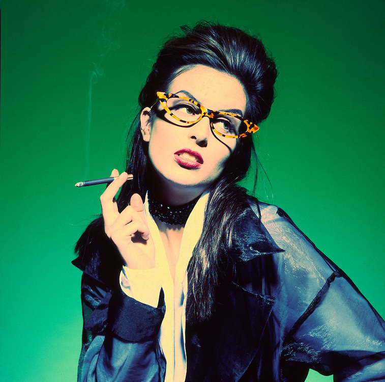 Cool Chick with Sobranie cigarette