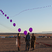 Balloon string at AfrikaBurn 2014, Tankwa Karoo desert, South Africa