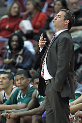 20 November 2013:  Steve Masiello during an NCAA Non-Conference mens basketball game between theJaspers of Manhattan and the Illinois State Redbirds in Redbird Arena, Normal IL