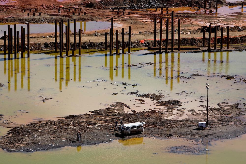 Jeceaba_MG, Brasil...Canteiro de obras em Jeceaba...The construction in Jeceaba...Foto: JOAO MARCOS ROSA /  NITRO
