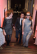 HOLLY BRAINE, VICTORIA RIGBY; PHILIP WANG,, Sotheby's Erotic sale cocktail party, Sothebys. London. 14 February 2018