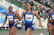 Jun 16, 2019; Rabat, Morocco; Salwa Eid Naser (BRN) wins the women's 400m in 50.13during the Meeting International Mohammed VI d'Athletisme de Rabat at Prince Moulay Abdellah Stadium.