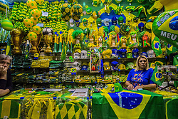 June 12, 2018 - Sao Paulo, Brazil - The apathy of the Brazilian is visible with the World Cup, two days before the opening of the World Cup in Russia, the atmosphere of the World Cup still does not echo throughout the country and for the first time the lack of interest is evident. Some 53% of Brazilians have no interest in the World Cup. (Credit Image: © Cris Faga via ZUMA Wire)