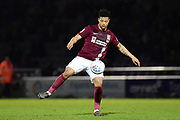 Northampton Town midfielder (on loan from Legia Warsaw) Hildeberto Pereira (28) controls the ball during the EFL Sky Bet League 1 match between Northampton Town and Shrewsbury Town at Sixfields Stadium, Northampton, England on 20 March 2018. Picture by Dennis Goodwin.