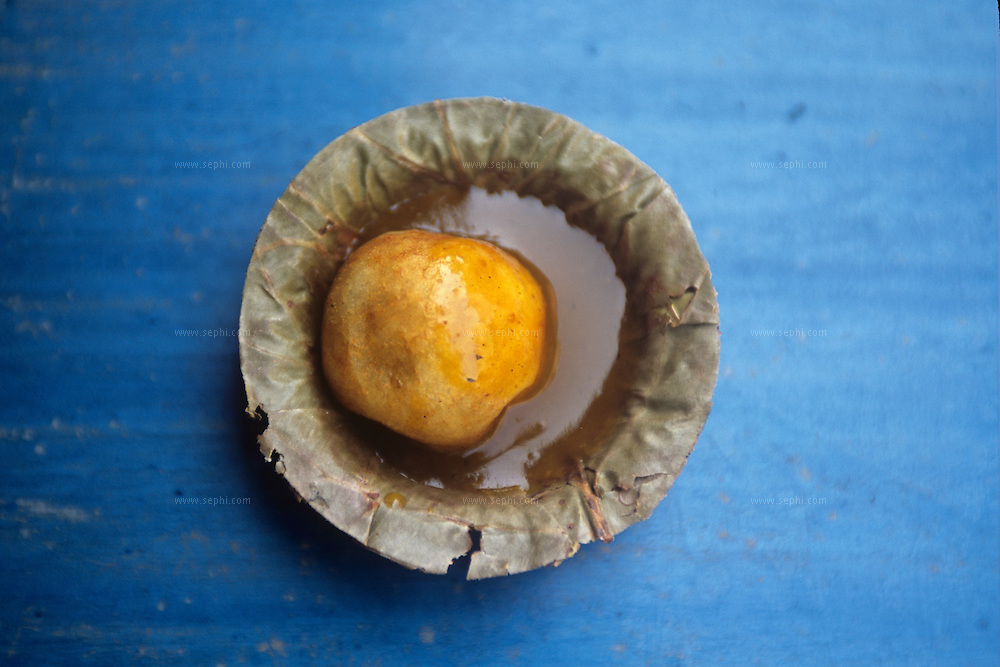 Baf wada (potato and masala) on the streets of Ahmedabad, Gujarat.