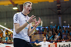 Stalekar Saso of Calcit Volley during volleyball match between Calcit Volley and ACH Volley in Final of 1. DOL Slovenian Man national Championship 2016/17 on 24th of April, 2017 in Kamnik, Slovenija.  Photo by Grega Valancic / Sportida