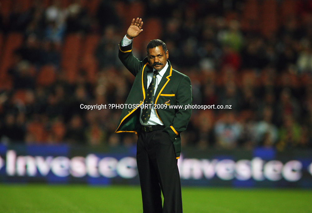 Springboks coach Peter De Villiers.<br /> Investec Tri-Nations rugby match - All Blacks v Springboks at Rugby Park, Hamilton, New Zealand on Saturday 12 September 2009. Photo: Dave Lintott/PHOTOSPORT