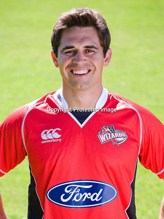 Johann Myburgh. Canterbury Wizards headshots, Domestic cricket season, Summer 2009-2010. Christchurch, 6 November 2009. Photo: New Regent Studios