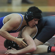 Middletown Luis Estrada and William Penn Brandon Pike grapple in a 106 pound bout during the Blue Hen Conference Wrestling Tournament Finals Saturday, Feb. 20, 2016 at William Penn High School in New Castle.