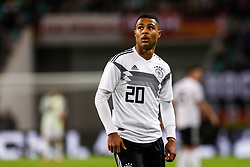 November 16, 2018 - Leipzig, Germany - Serge Gnabry of Germany looks on during the international friendly match between Germany and Russia on November 15, 2018 at Red Bull Arena in Leipzig, Germany. (Credit Image: © Mike Kireev/NurPhoto via ZUMA Press)