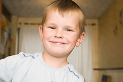 Close up of young Polish boy smiling,