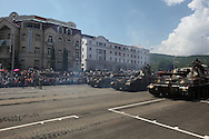 On May 9th each year in Stepanakert (Republic of Nagorno-Karabakh / Artsakh) a military parade takes place to recognise the Liberation of Shushi and the fallen from the Second World War. The display of military hardware provides re-assurance to the people of Artsakh who are under continued threat from Azerbaijan.