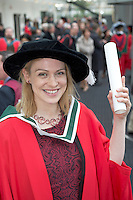 27/02/2014 XX job  Emily O Flaherty who got a Phd in Arts  from NUIG. Photo:Andrew Downes