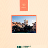 Baptist Hospital Annual Report Cover